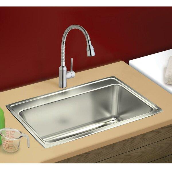 Lustertone 25 L x 22 W Drop-In Kitchen Sink by Elkay