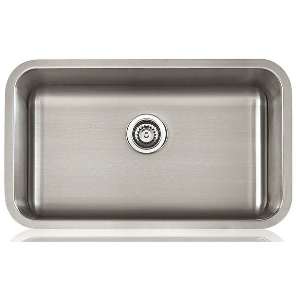 Classic Bowl 31 x 18 Undermount Kitchen Sink with Drain Assembly
