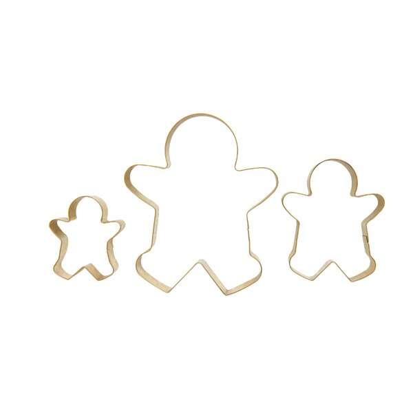 Costello 3 Piece Gingerbread Man Stainless Steel Cookie Cutter Set by The Holiday Aisle