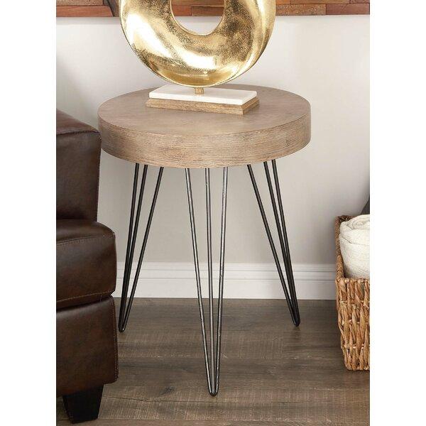 Villalpando Metal/Wood End Table by Union Rustic Union Rustic