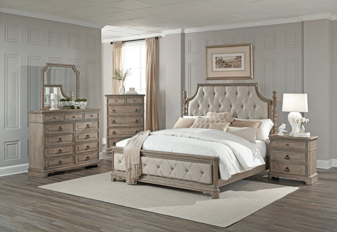 One Allium Way Pennington Platform 5 Piece Bedroom Set