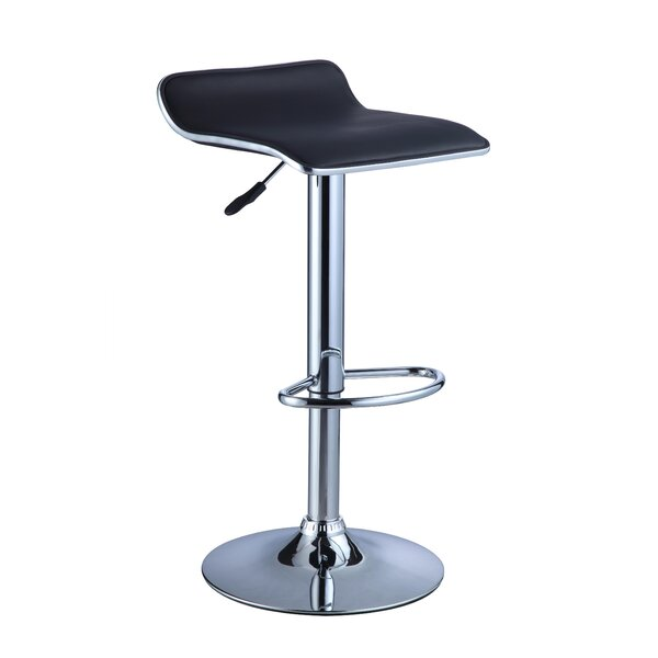 Musgrove Adjustable Height Swivel Bar Stool by Orren Ellis