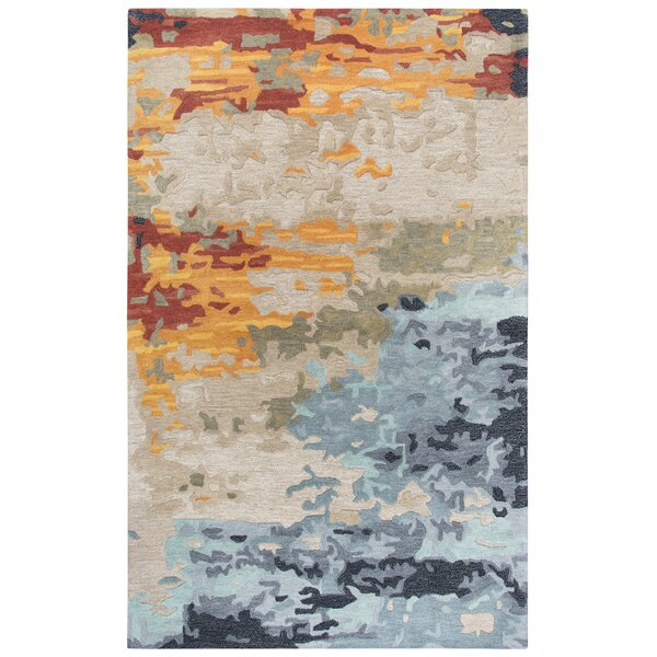 Gomes Hand-Tufted Wool Tan Area Rug By Williston Forge.