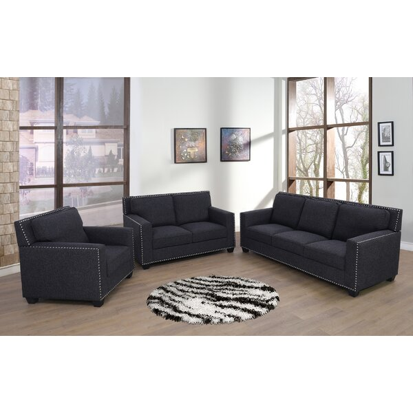 Adena 3 Piece Living Room Set by Winston Porter