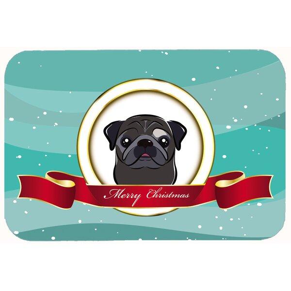 Pug Merry Christmas Kitchen/Bath Mat by Caroline's Treasures