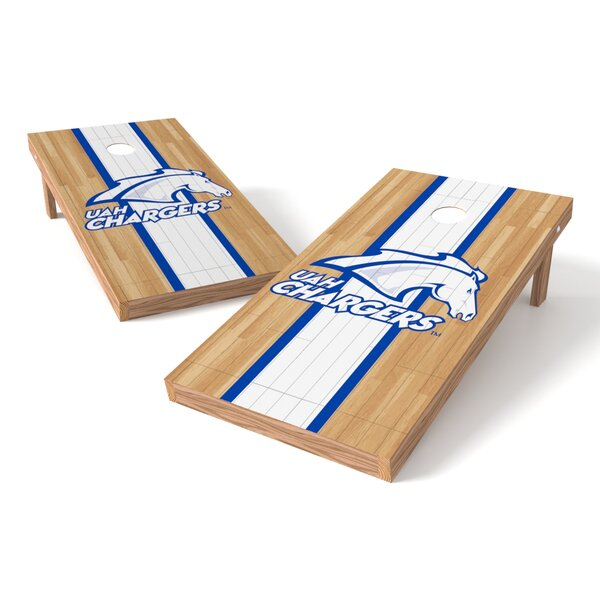 NCAA Hardwood Game Cornhole Set by Tailgate Toss