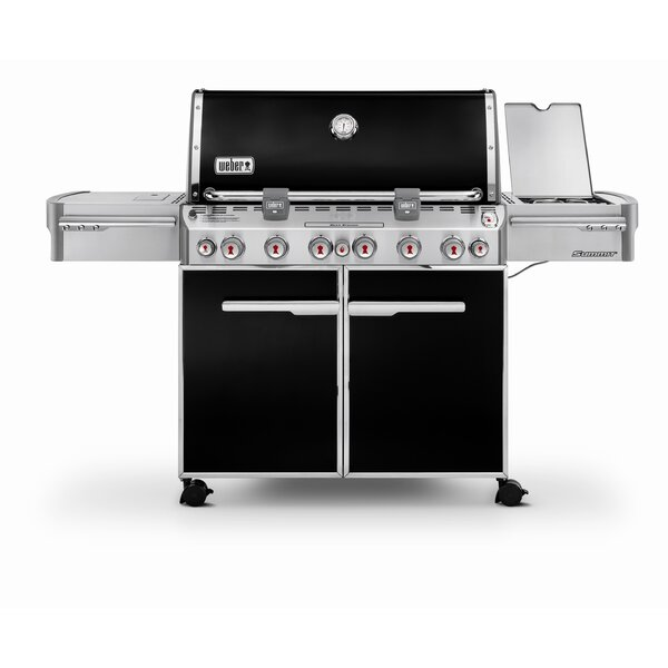 Summit E-670 6-Burner Propane Gas Grill with Smoker by Weber