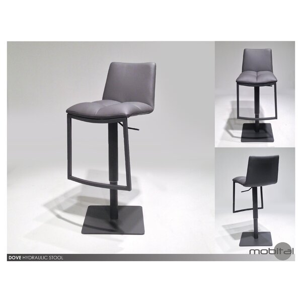 Dove Adjustable Height Swivel Bar Stool by Mobital