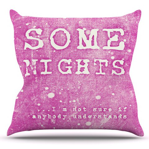 Some Nights by Monika Strigel Outdoor Throw Pillow by East Urban Home