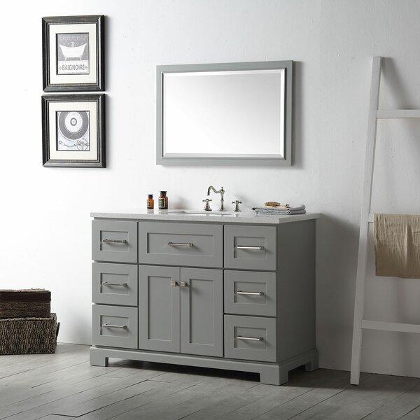 Driffield 48 Single Bathroom Vanity Set with Mirror