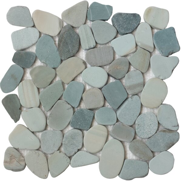 Random Sized Natural Stone Mosaic Tile in Green by FuStone
