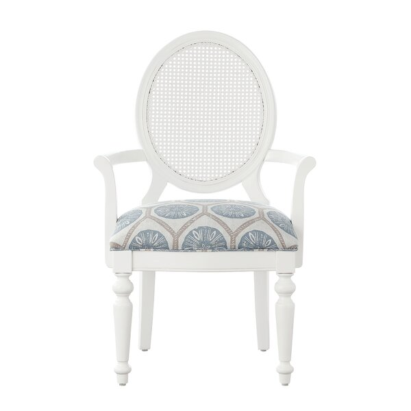 Dukinfield King Louis Back Arm Chair in White by One Allium Way One Allium Way