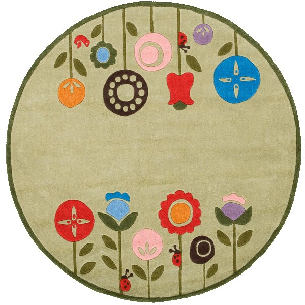 Candis Hand-Tufted Light Green Kids Rug by Viv + Rae