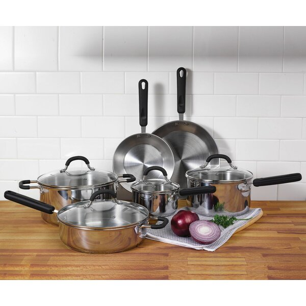 10 Piece Stainless Steel Cookware Set by Oneida