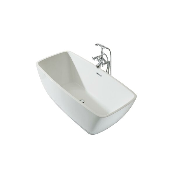 Aurora Platinum 63 x 30 Freestanding Soaking Bathtub by Ariel Bath