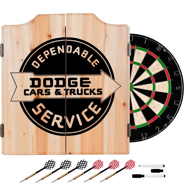 Dodge Service Dartboard and Cabinet Set by Trademark Global