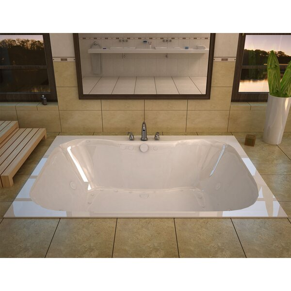 Dominica 59 x 40.5 Rectangular Air & Whirlpool Jetted Bathtub with Center Drain by Spa Escapes