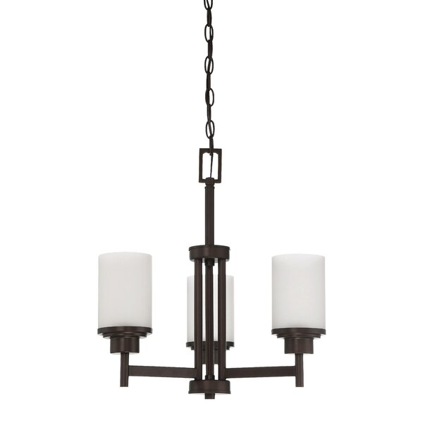 Bristol 3-Light Shaded Classic / Traditional Chandelier by Ebern Designs Ebern Designs