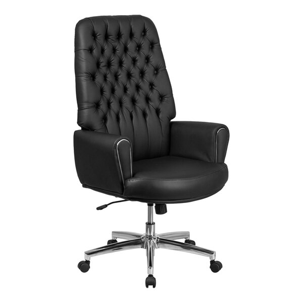 Stefania High Back Traditional Executive Swivel Office Chair by Darby Home Co