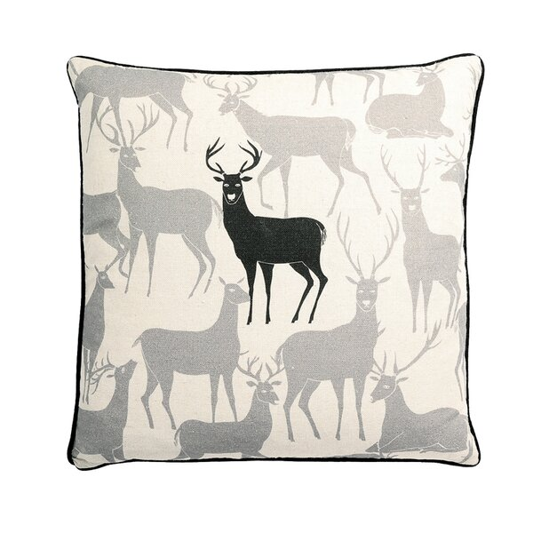 Monument Reindeer Square Synthetic Throw Pillow by Loon Peak