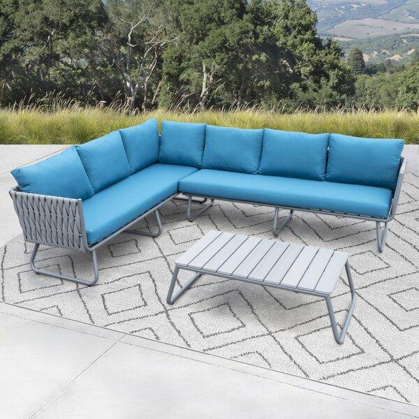 Barnstaple 3 Piece Sofa Seating Group with Cushions Brayden Studio W001436368