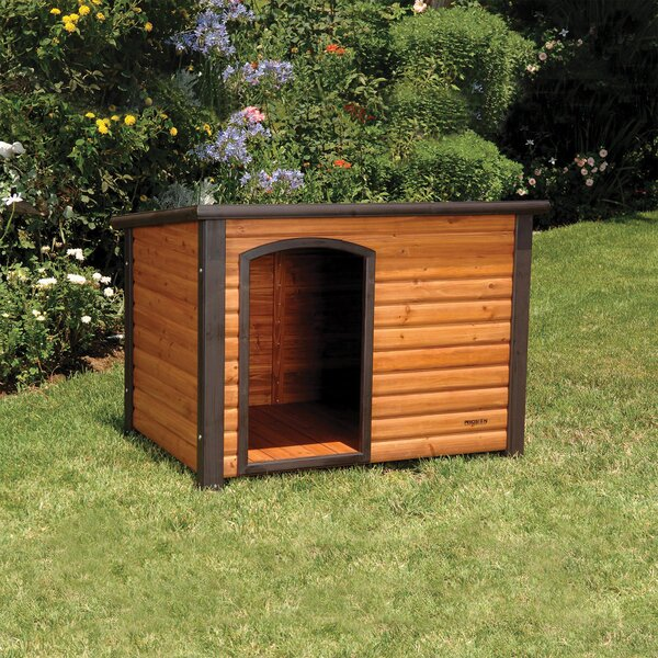 Outback Log Cabin Dog House by Precision Pet Products