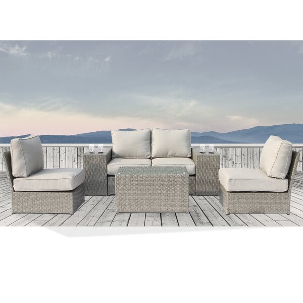Winsford 7 Piece Sectional Set with Cushions by Rosecliff Heights