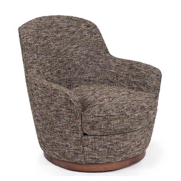 Eitzen Heathered Soft Tweed Swivel Barrel Chair By Brayden Studio