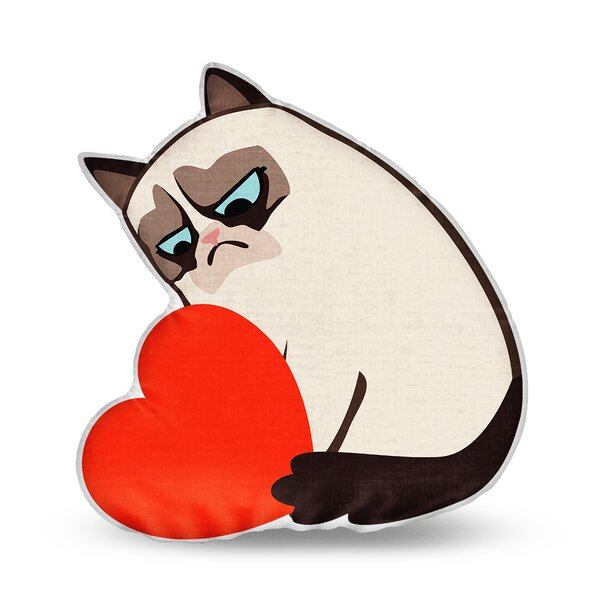 What is This Grumpy Cat Throw Pillow by LiLiPi
