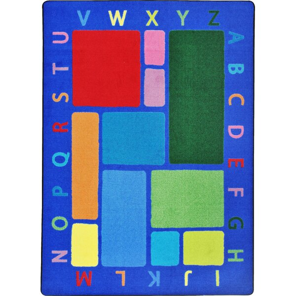 Building Blocks Blue Area Rug by The Conestoga Trading Co.