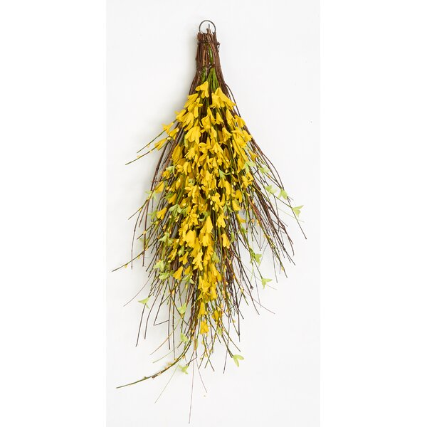Forsythia Twig Teardrop Swag by Worth Imports