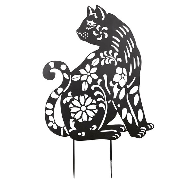 Cat Animal Silhouette Garden Stake by Wind & Weather