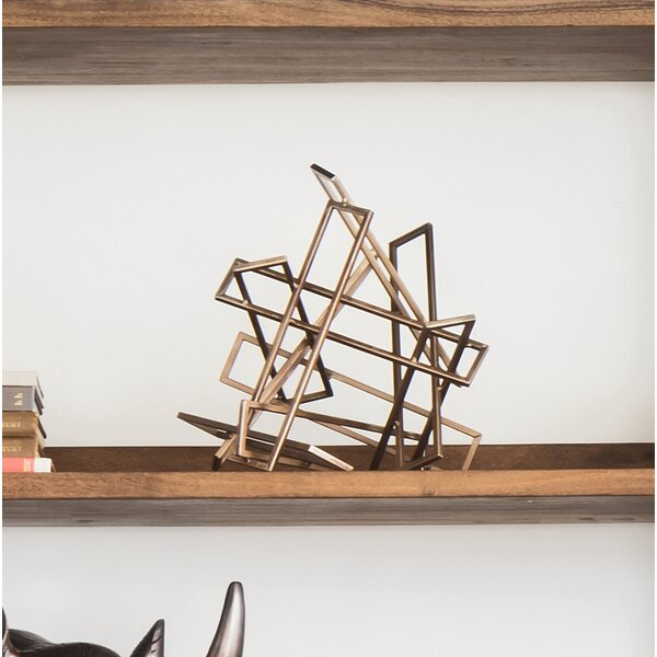 Bradsher Tangled Rectangles Sculpture (Set of 2) by Mercury Row