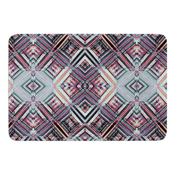 Watercolor Caledoscope by Gabriela Fuente Bath Mat by East Urban Home