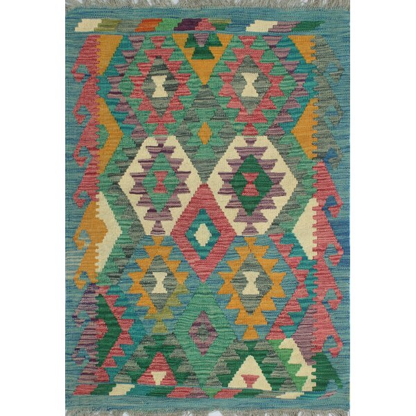 Corda Hand-Knotted Wool Done Area Rug by Bungalow Rose