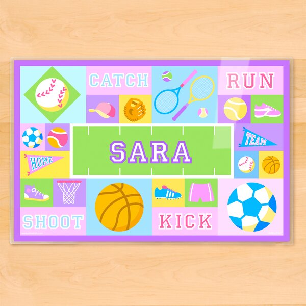 Game On Girls Personalized Placemat by Olive Kids