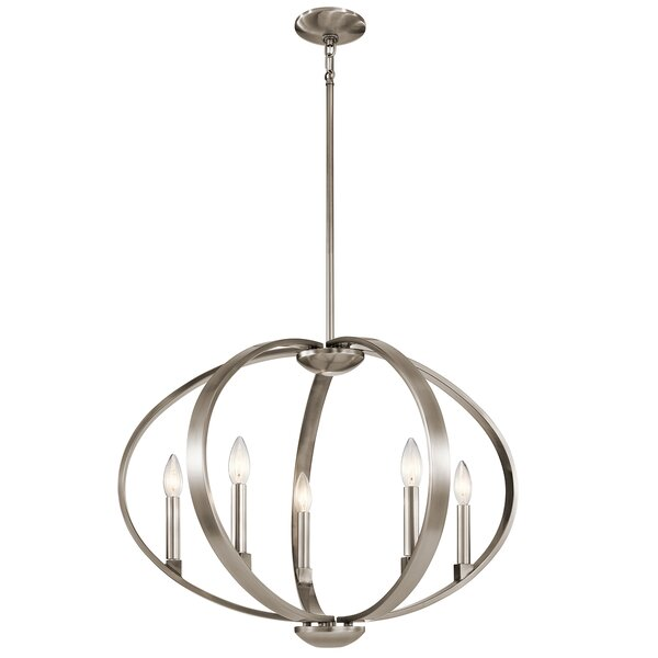 Zachary 5-Light Globe Chandelier by Corrigan Studi
