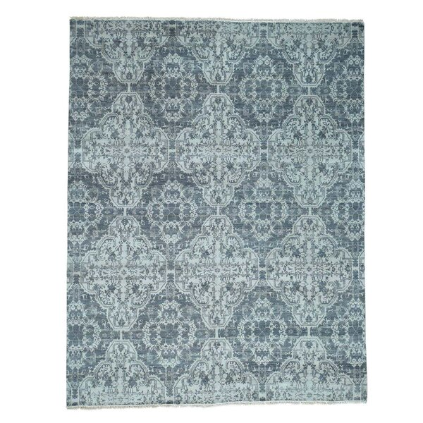 One-of-a-Kind Moughal Hand-Knotted Gray/Ivory Area Rug by Bloomsbury Market