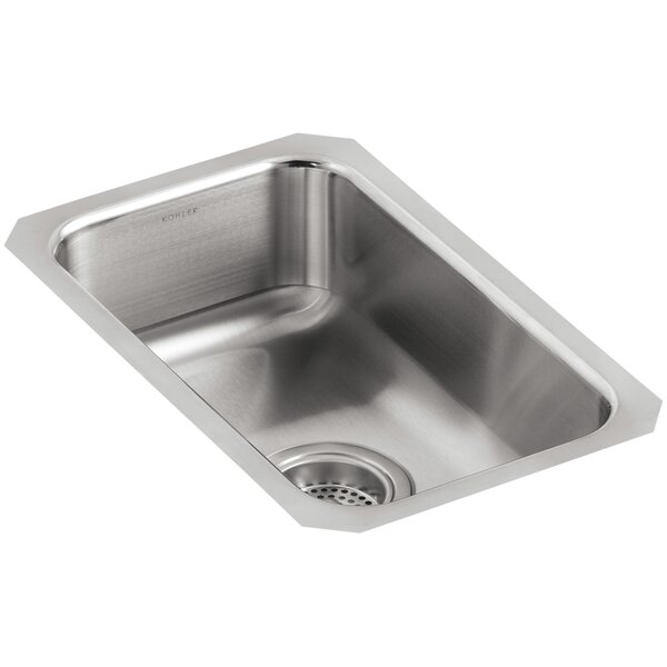 Undertone 10-3/4 L x 17-1/2 W x 5-5/8 Small Squared Under-Mount Single-Bowl Kitchen Sink by Kohler