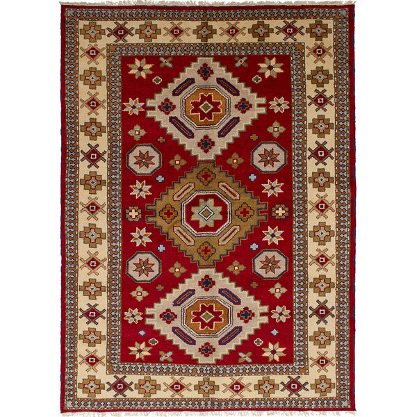 One-of-a-Kind Doering Handmade Wool Red Area Rug by Isabelline