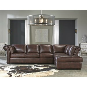 Angelina Leather Sectional  sc 1 st  Wayfair : leather sectional - Sectionals, Sofas & Couches