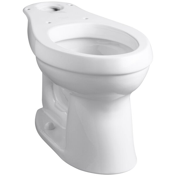 Cimarron Comfort Height Elongated Toilet Bowl with Class Five Flushing Technology by Kohler