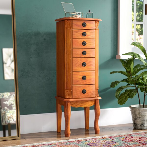 Stroudsburg Jewelry Armoire with Mirror by Alcott Hill Alcott Hill