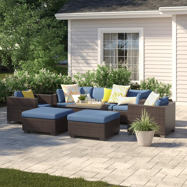 Fernando 8 Piece Sofa Seating Group with Cushions by Sol 72 Outdoor