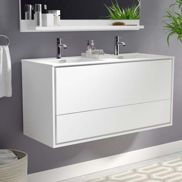 Trieu 47 Wall-Mounted Double Bathroom Vanity Set by Orren Ellis