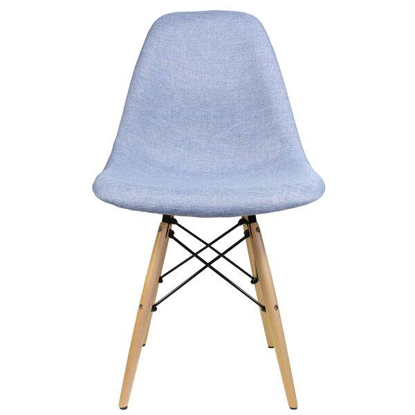 Denim Fabric Side Chair by eModern Decor