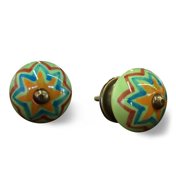 Handpainted Round Knob (Set of 4) by Taj Hotel