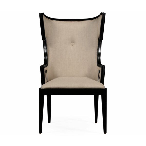 Windsor Greek Key Design Biedermeier Wingback Chair by Jonathan Charles Fine Furniture