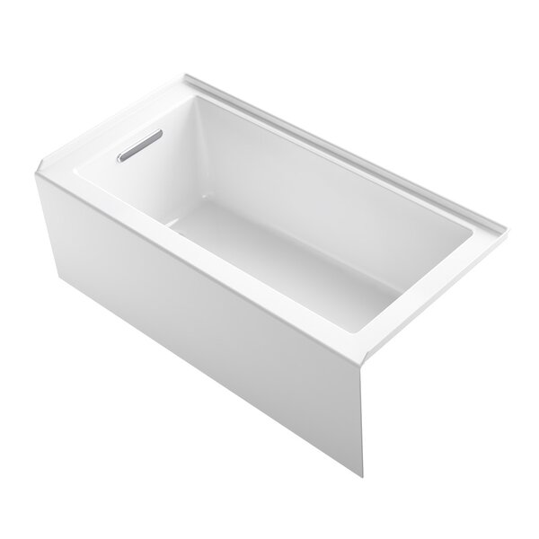 Underscore 60 x 30 Alcove Soaking Bathtub by Kohler