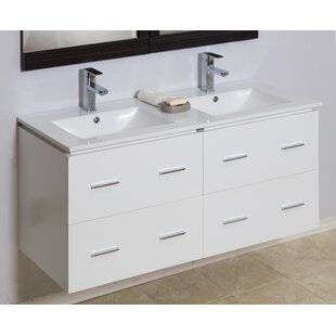 Clearance 48 Double Modern Wall Mount Bathroom Vanity Set By American Imaginations